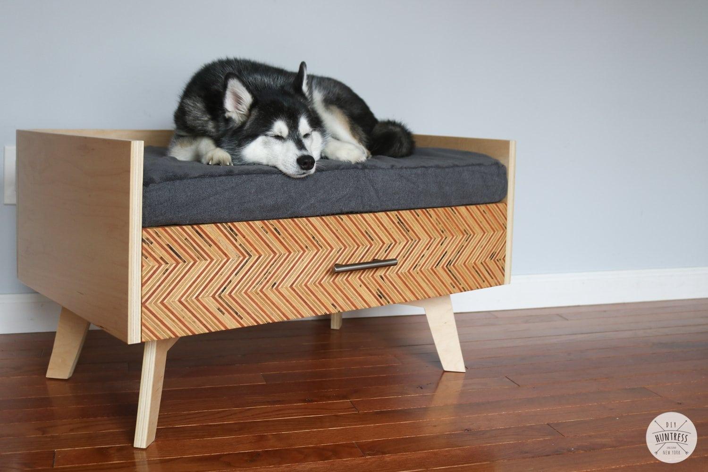 DIY Dog Bed With Storage Drawer
