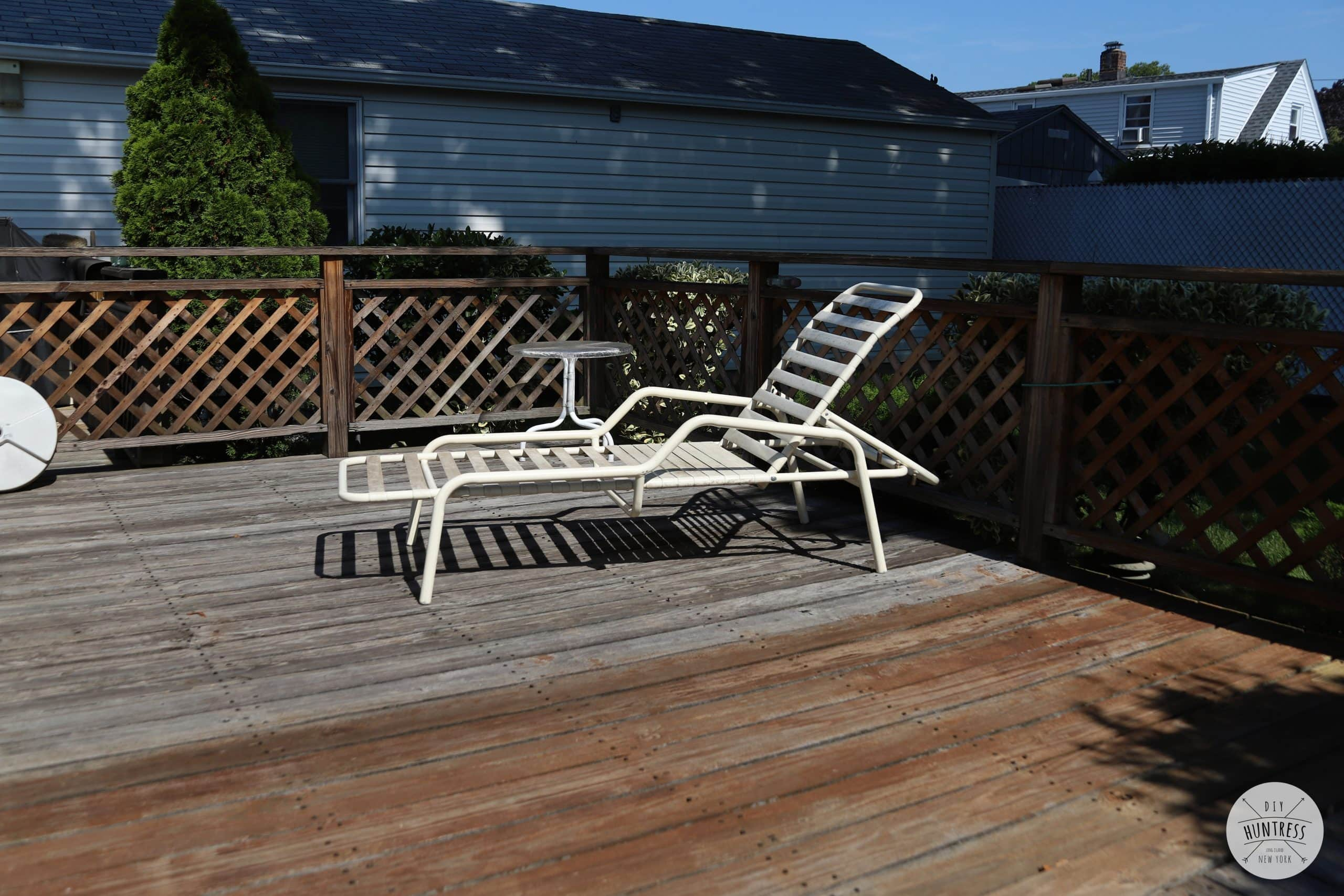 how to refinish and stain a deck