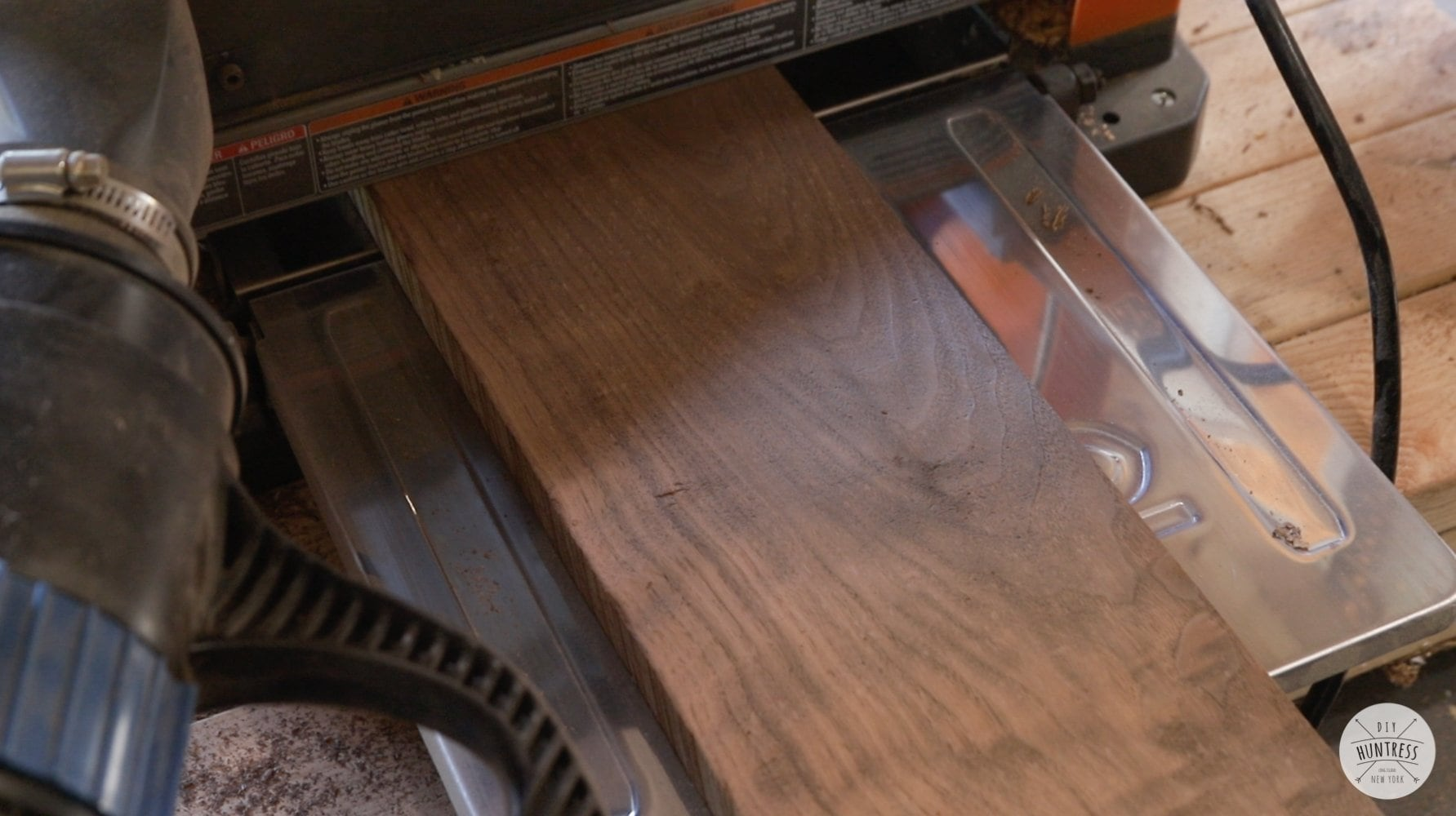running walnut through surface planer