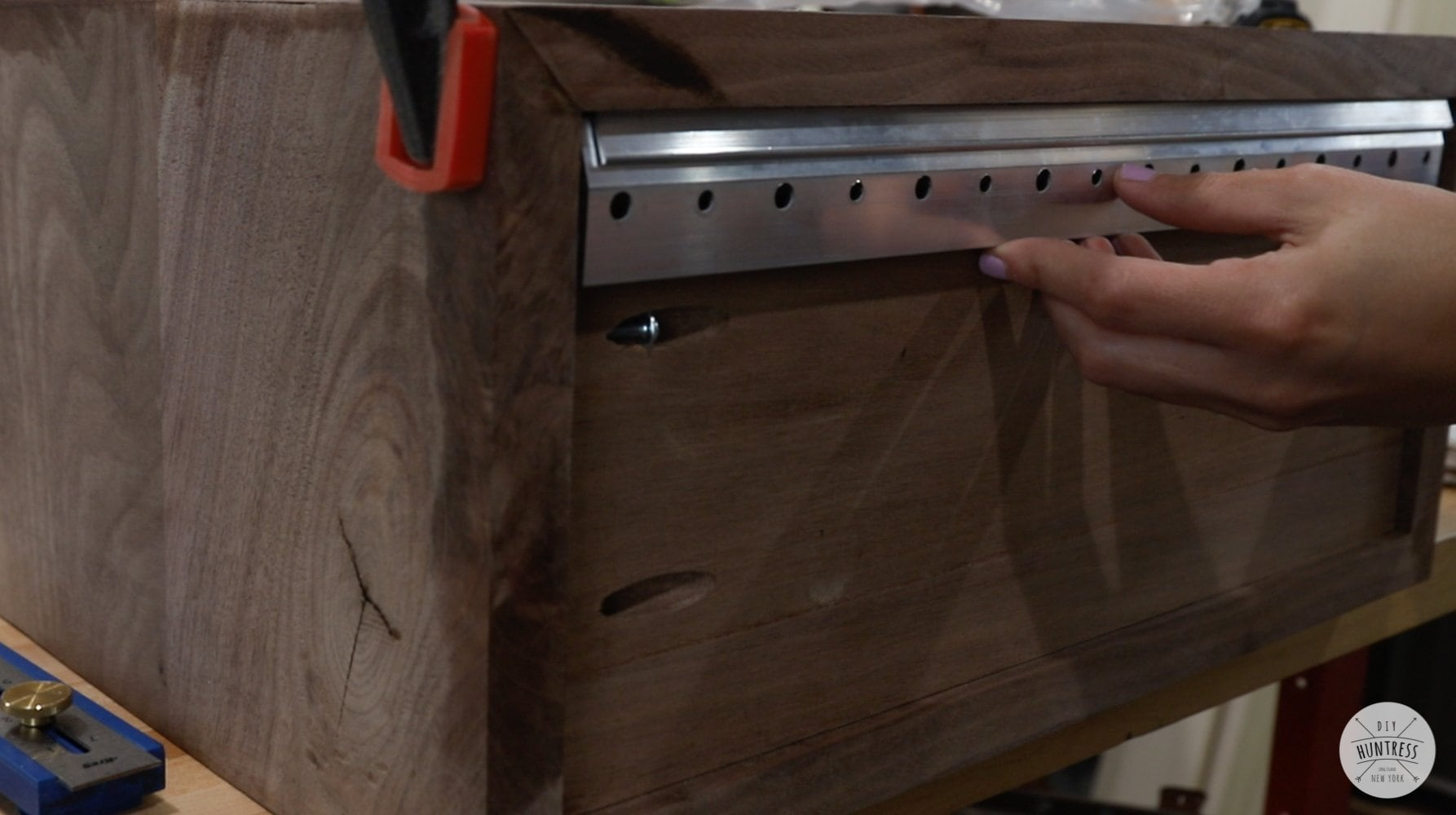 attaching back panel to nightstand