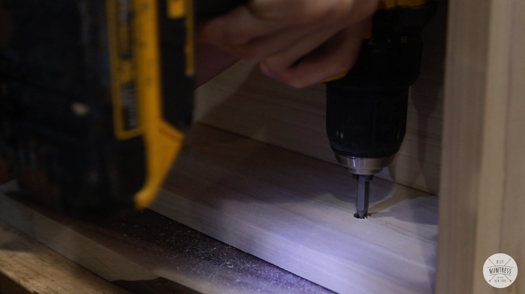 attaching drawer face with screws