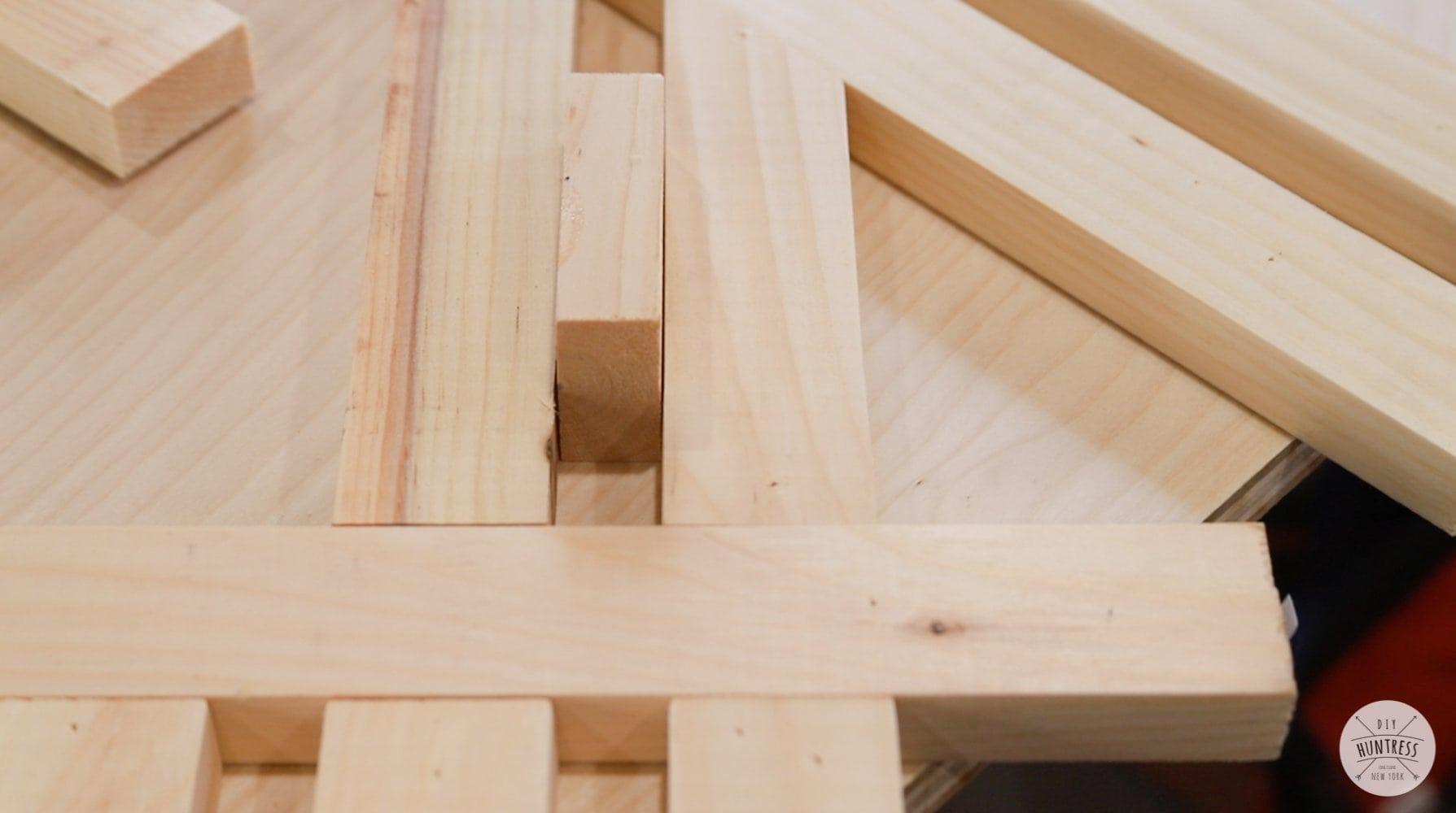 diy wood spacer for art