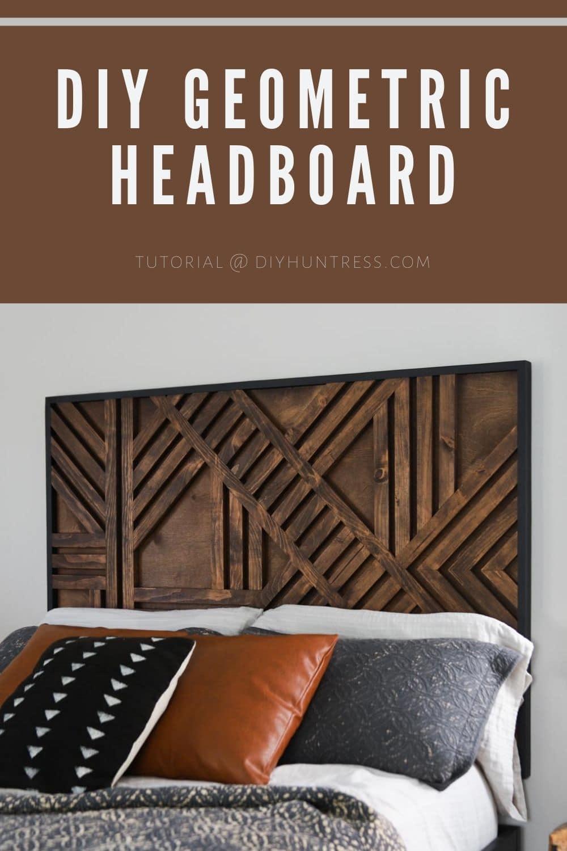 How To Build A DIY Geometric Headboard