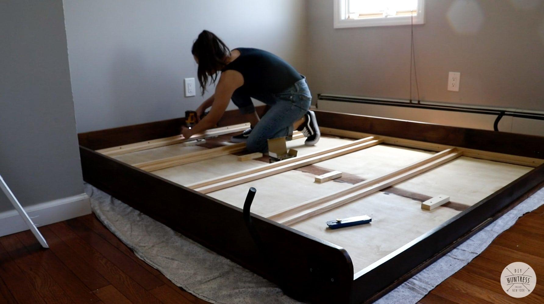 assembling diy murphy bed