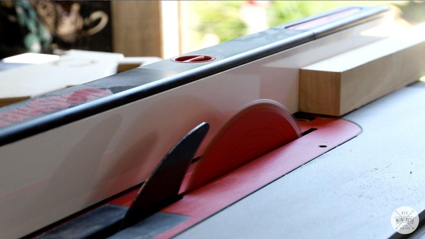cutting custom cabinet pulls on saw
