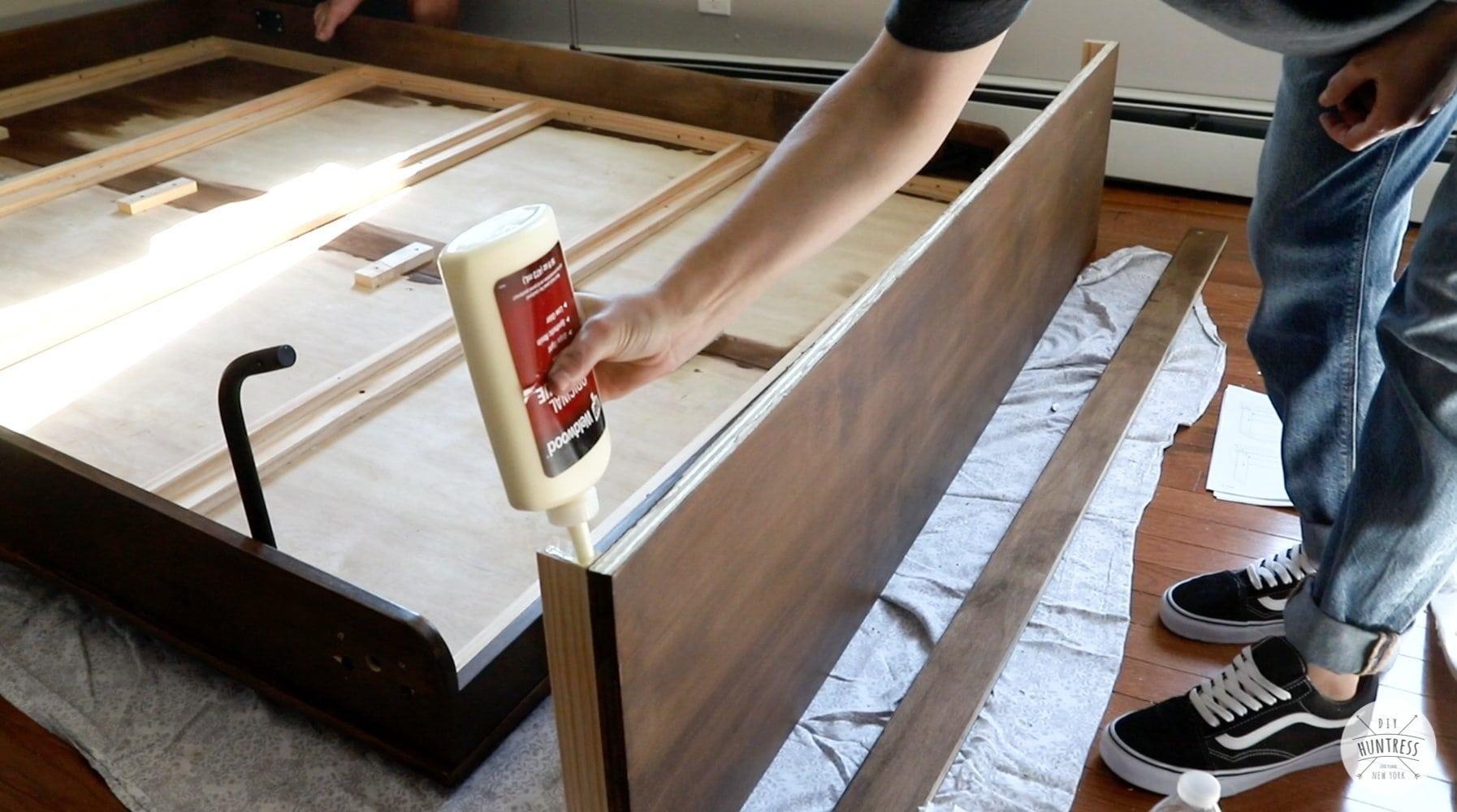 building murphy bed header
