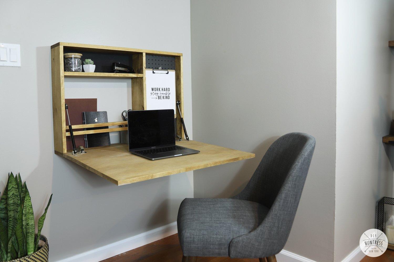 DIY Fold Down Wall Desk