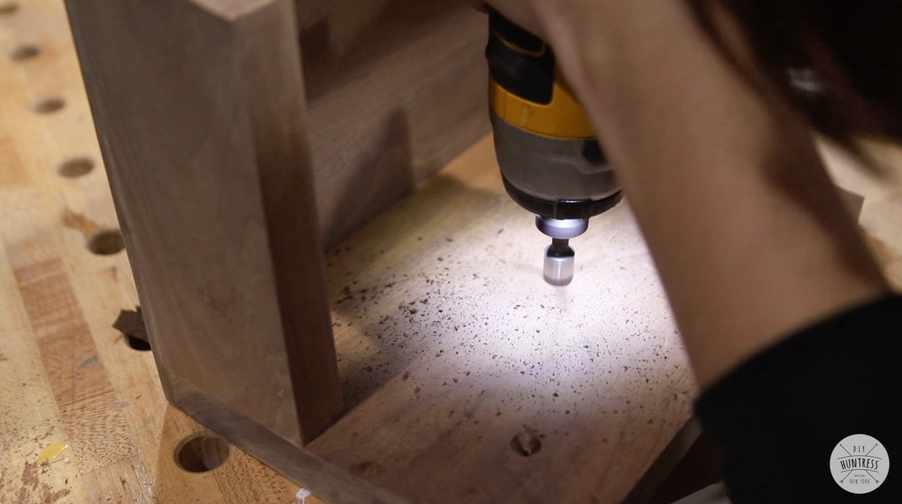 drilling countersunk holes in wood