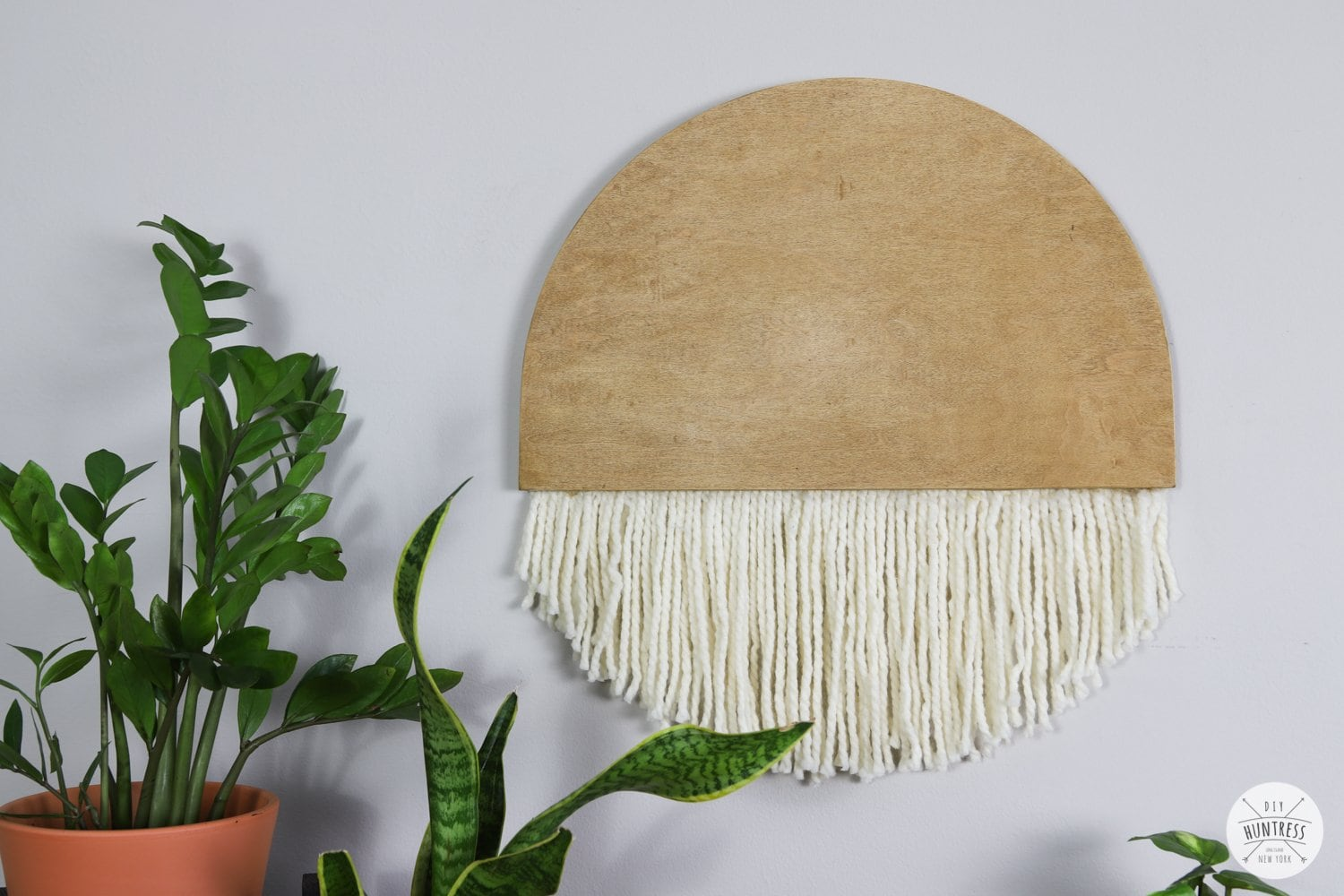 diy wood wall art with string