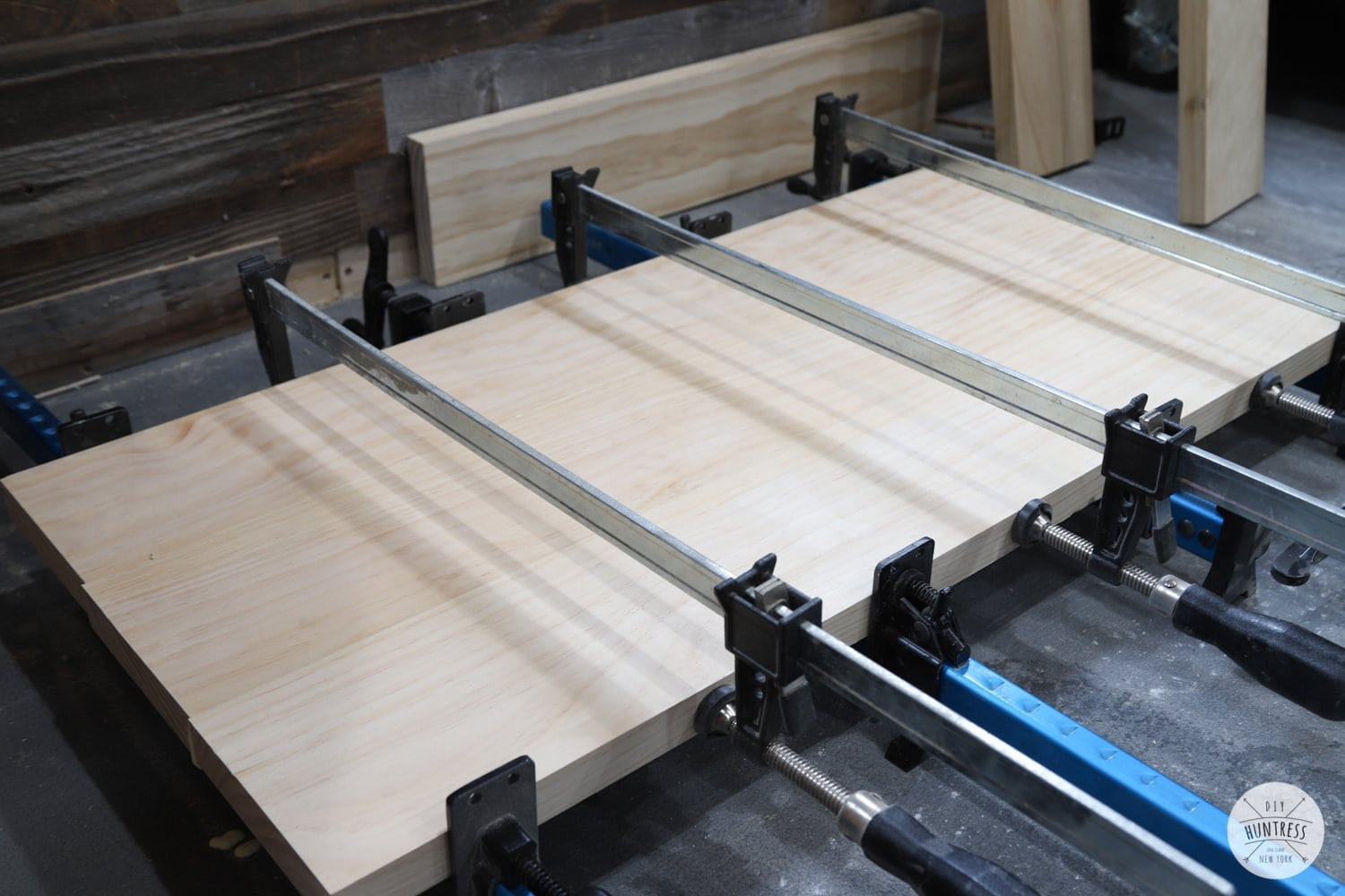 gluing up desk top panels