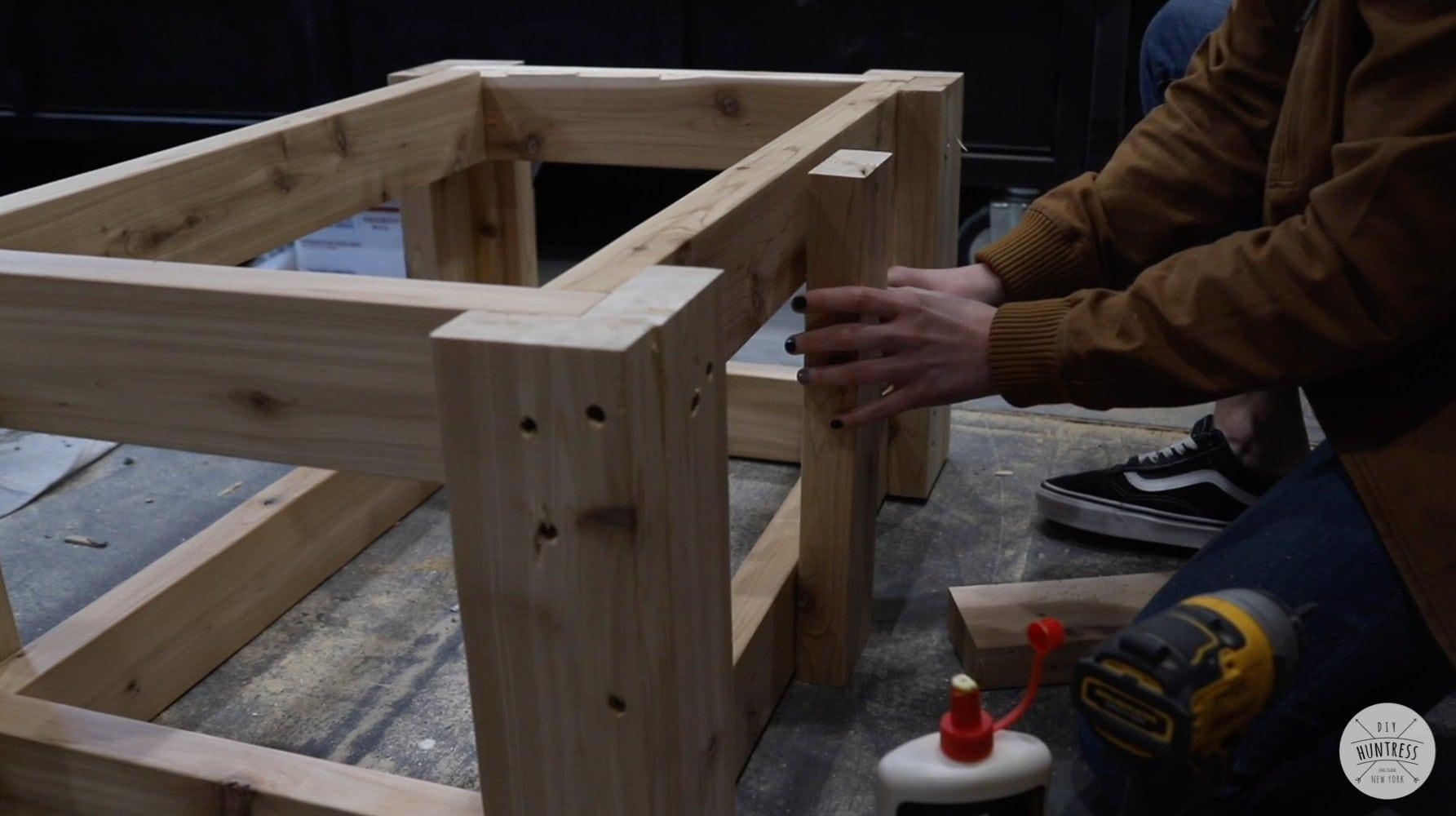 building a concrete table