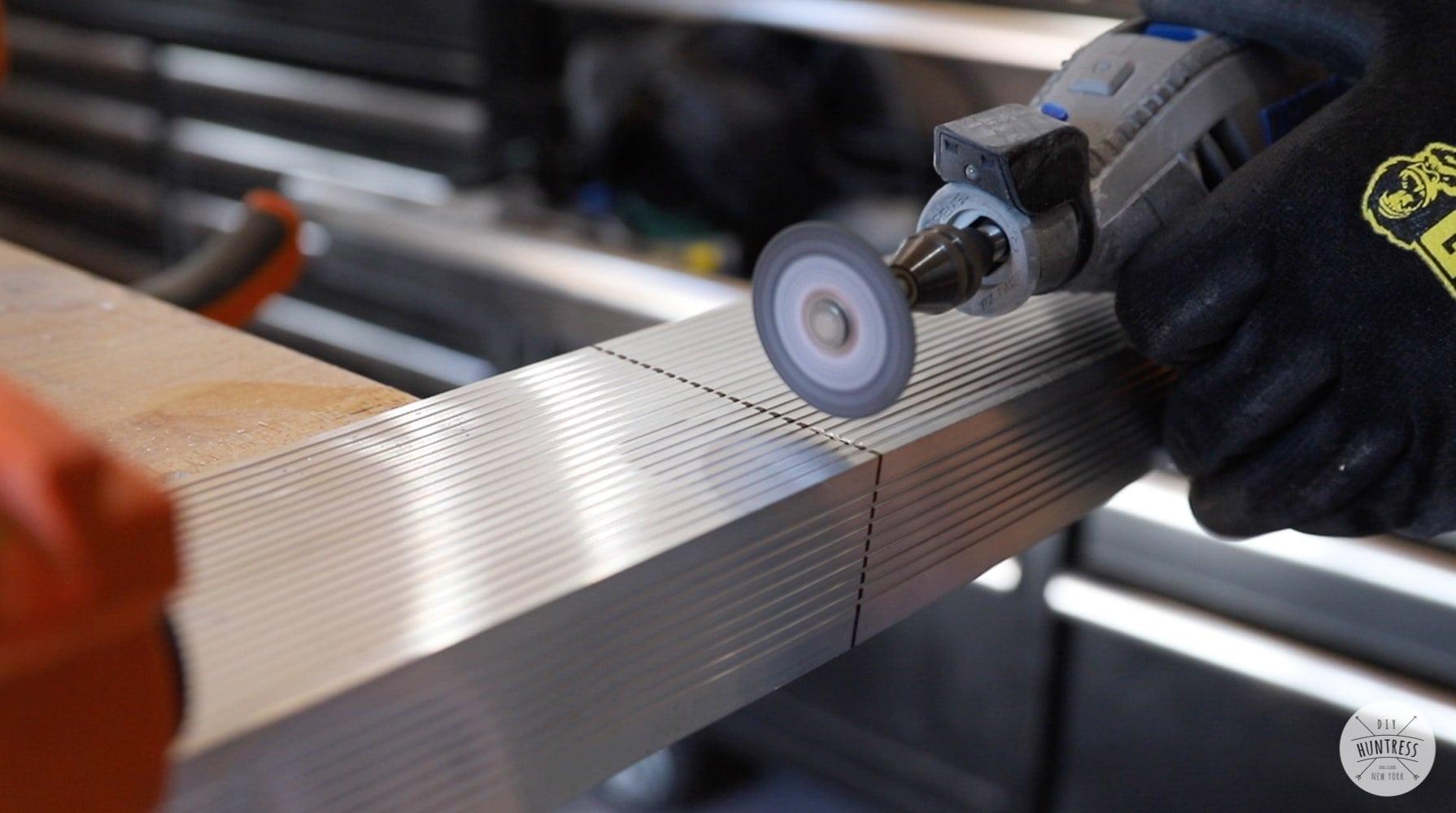cutting metal with a dremel