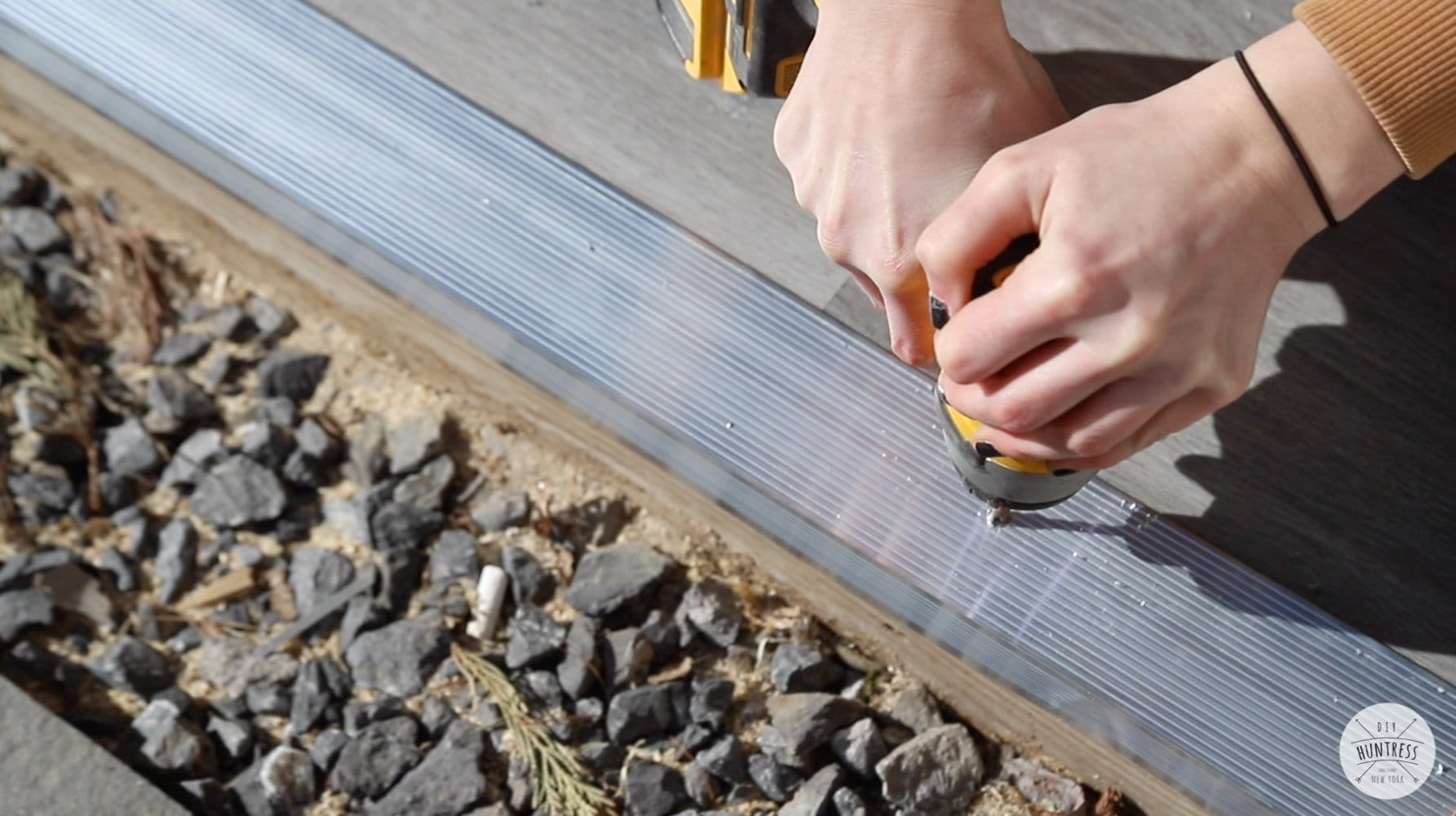 installing shed threshold