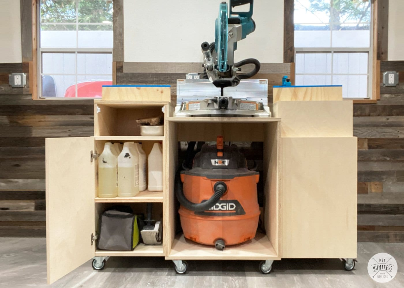 DIY Mobile Miter Saw Stand (With Storage!)