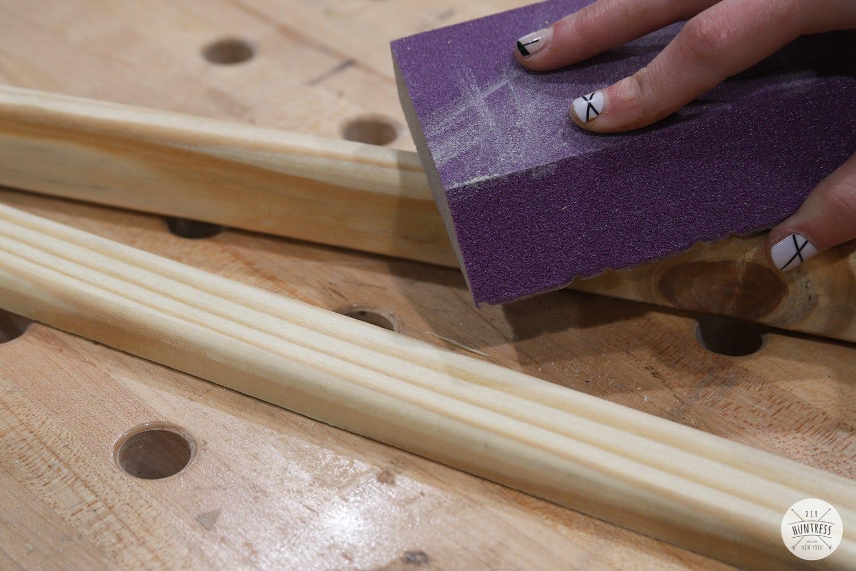 sanding pressure treated wood