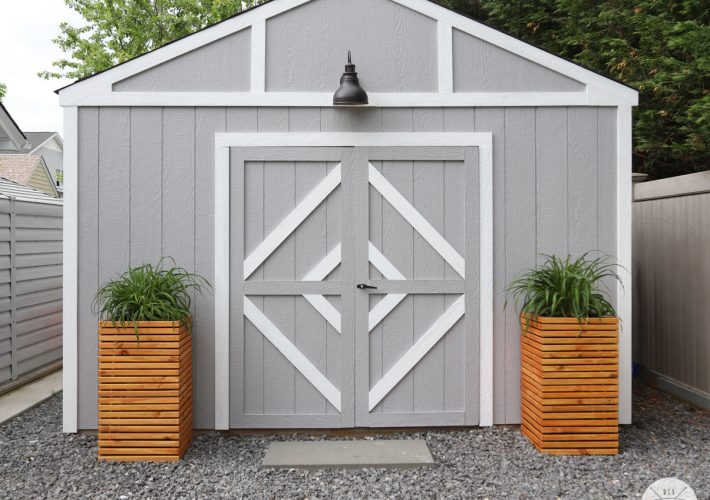 how to build a set of modern planters