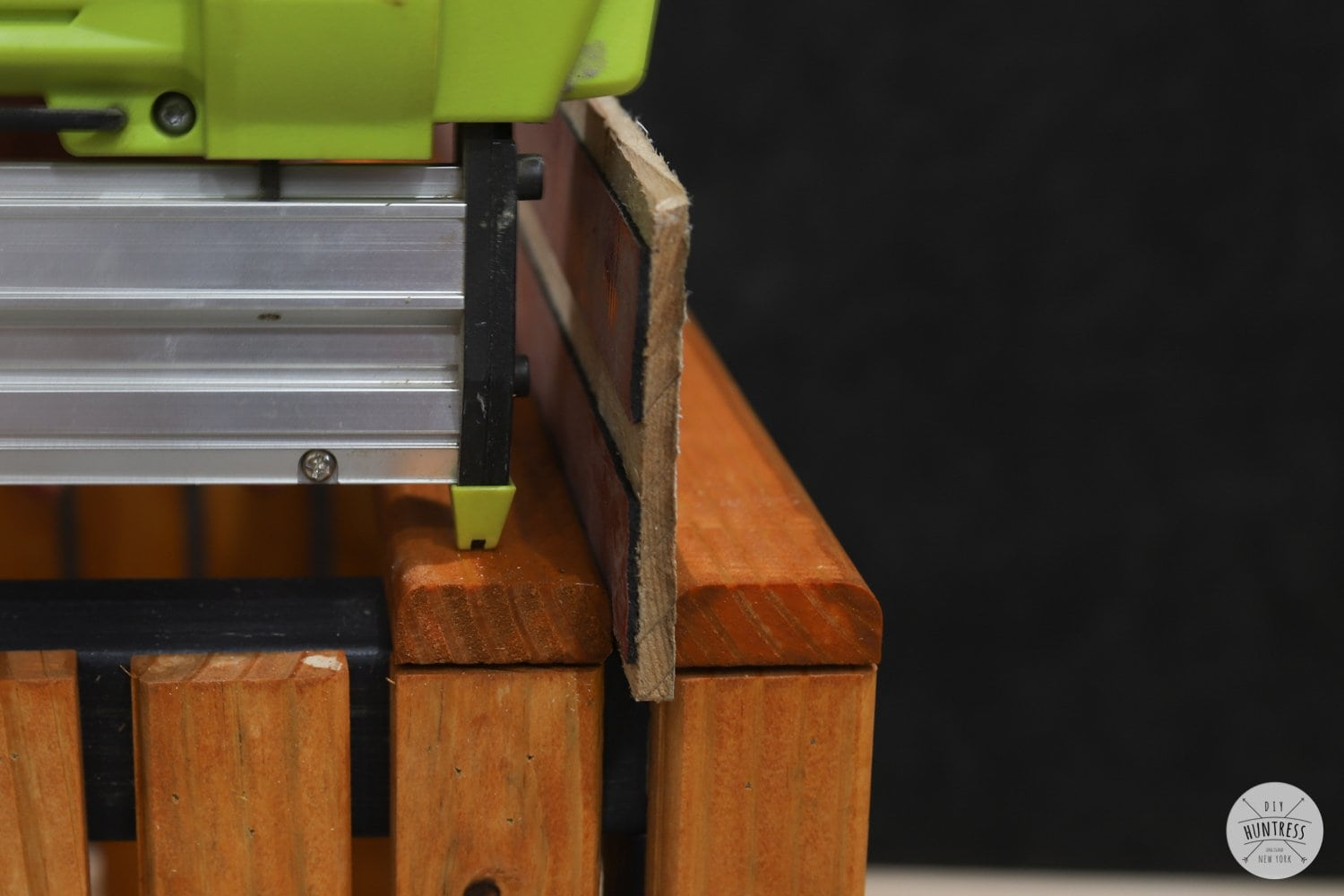 attaching wood slats with brad nailer