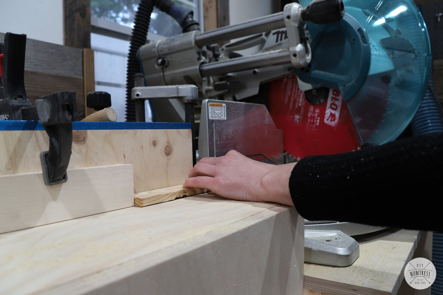 making repeated cuts on a miter saw