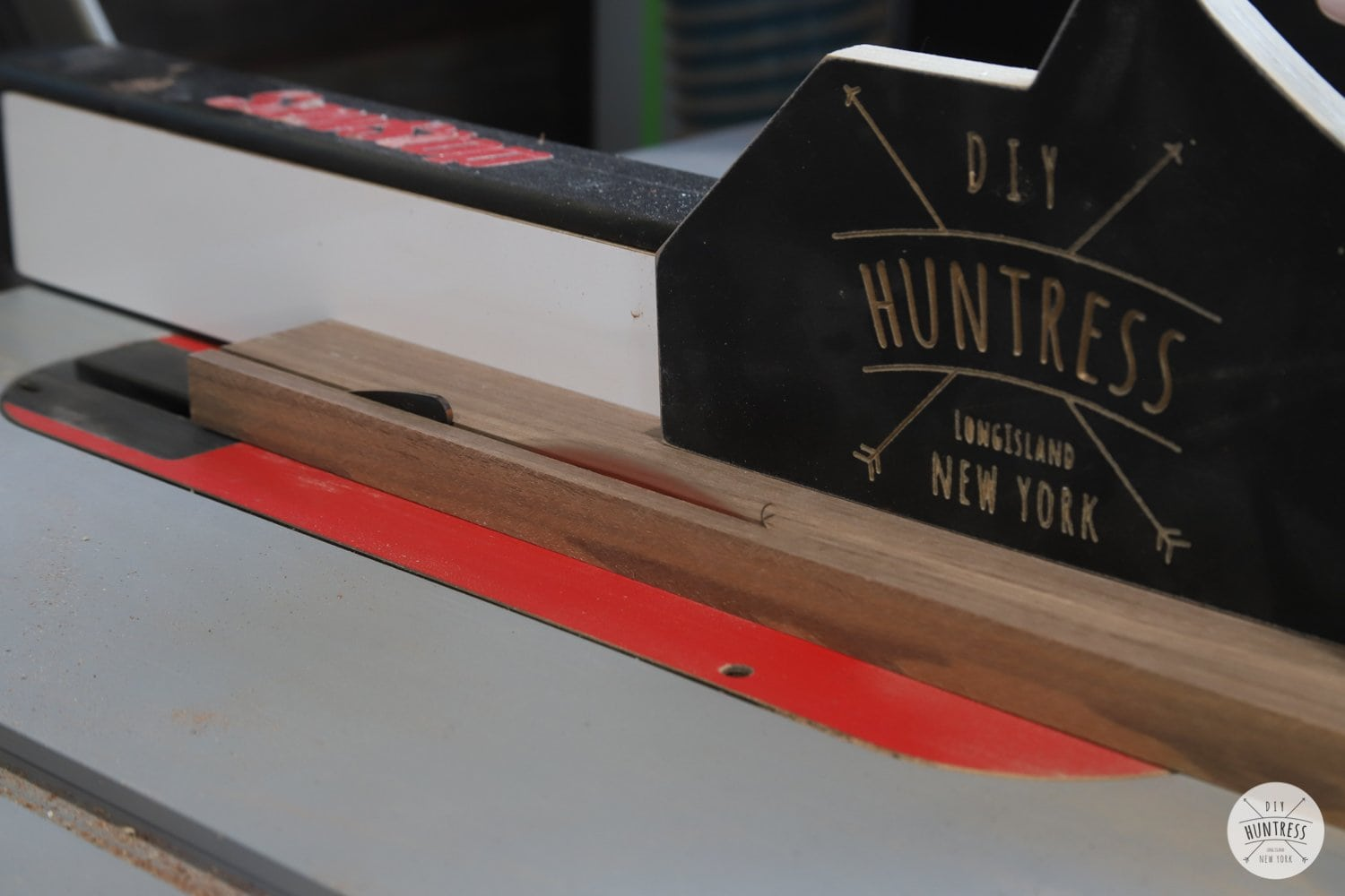 making a cutting board with a table saw