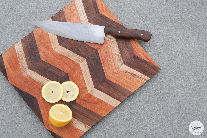 chevron herringbone cutting board