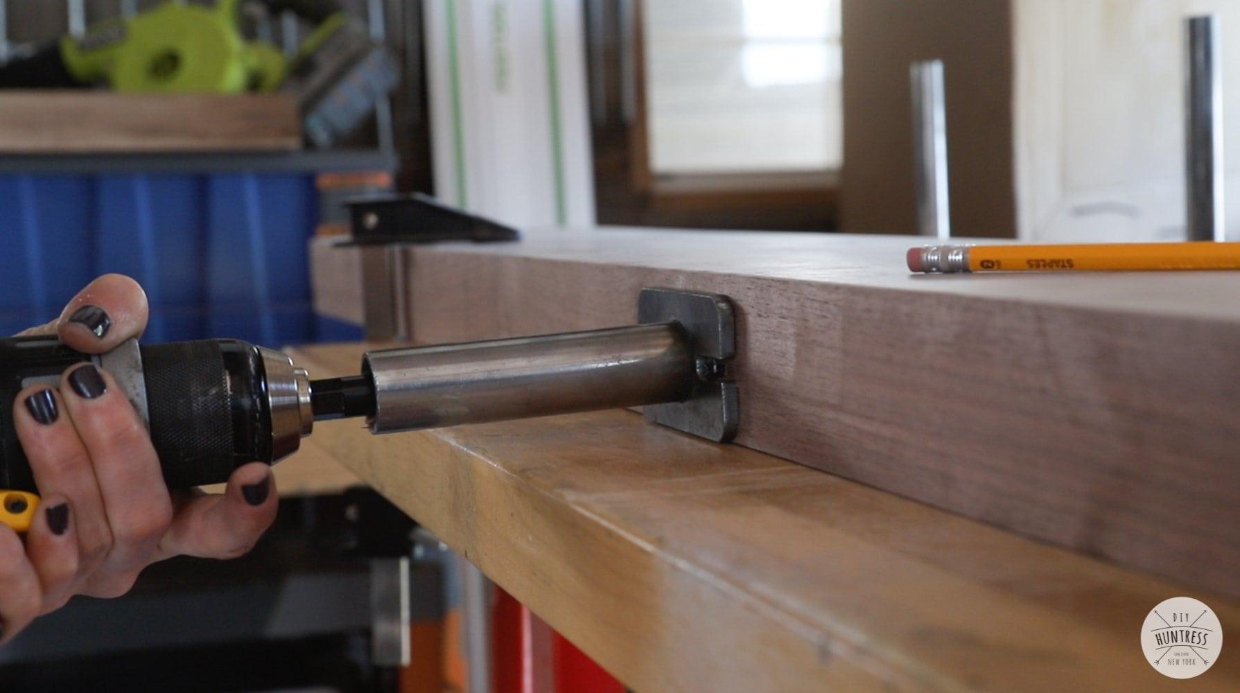 drilling holes for floating shelf brackets