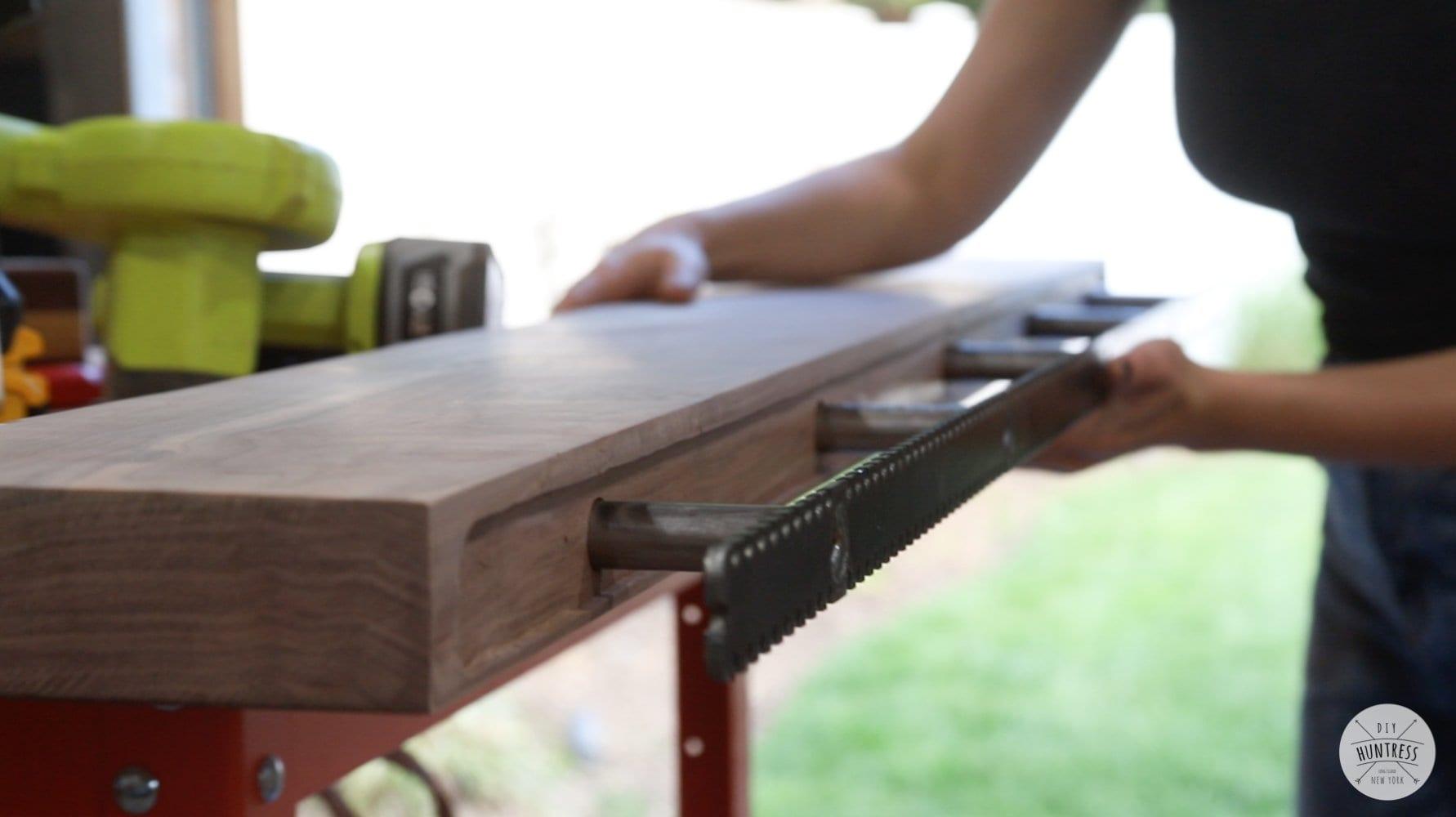 how to install floating shelf bracket