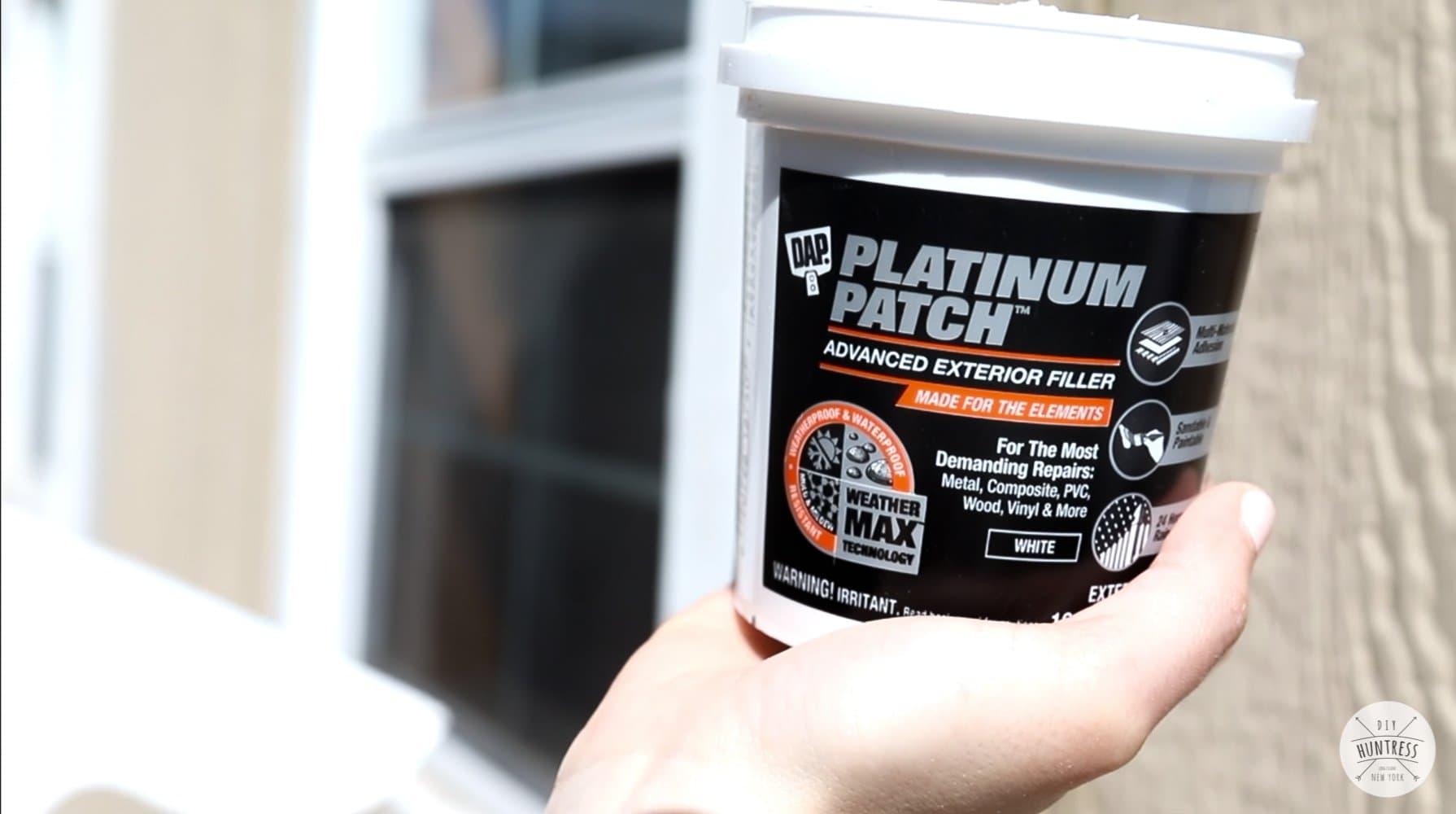 dap platinum patch on shed