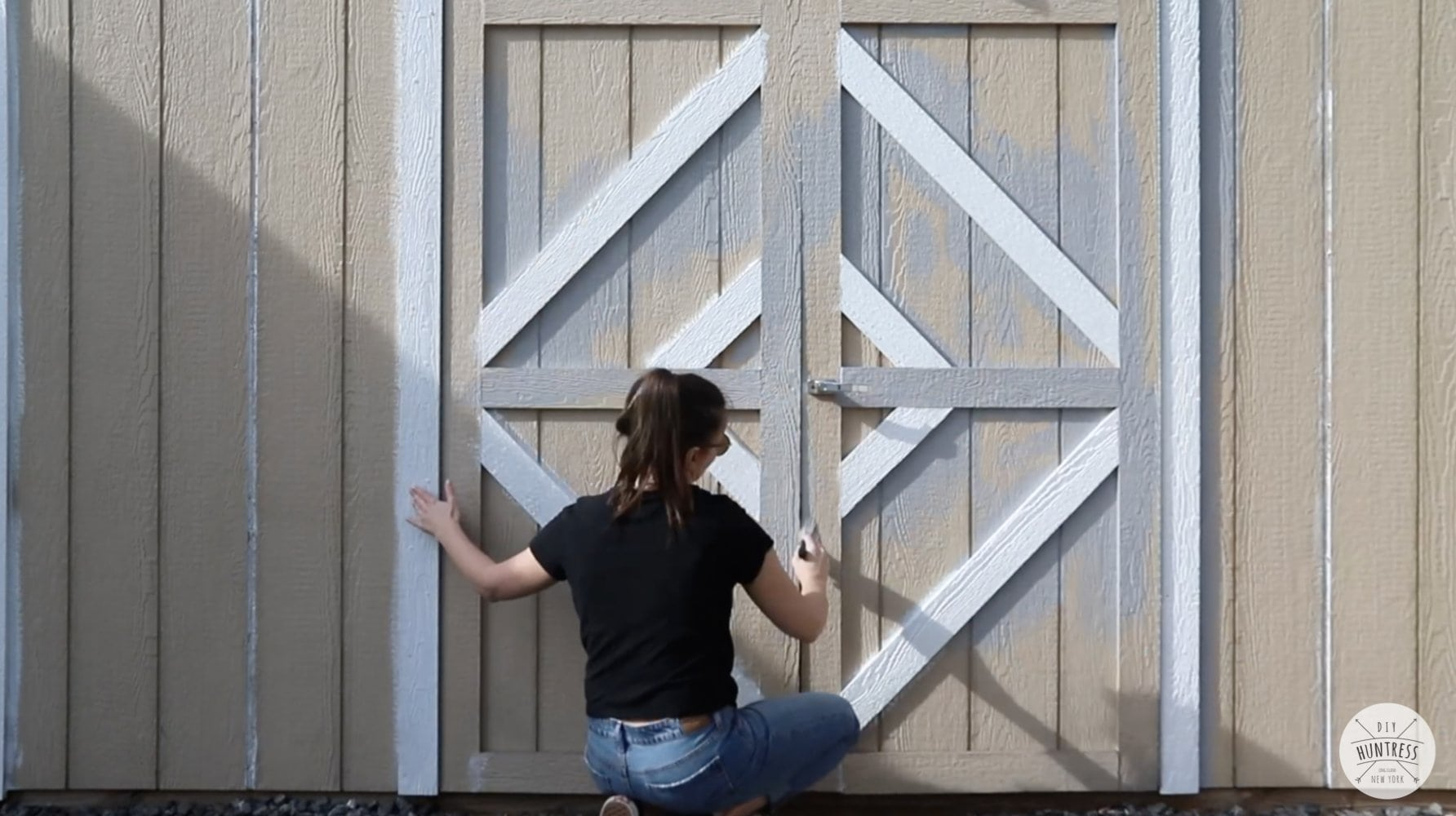 painting a shed