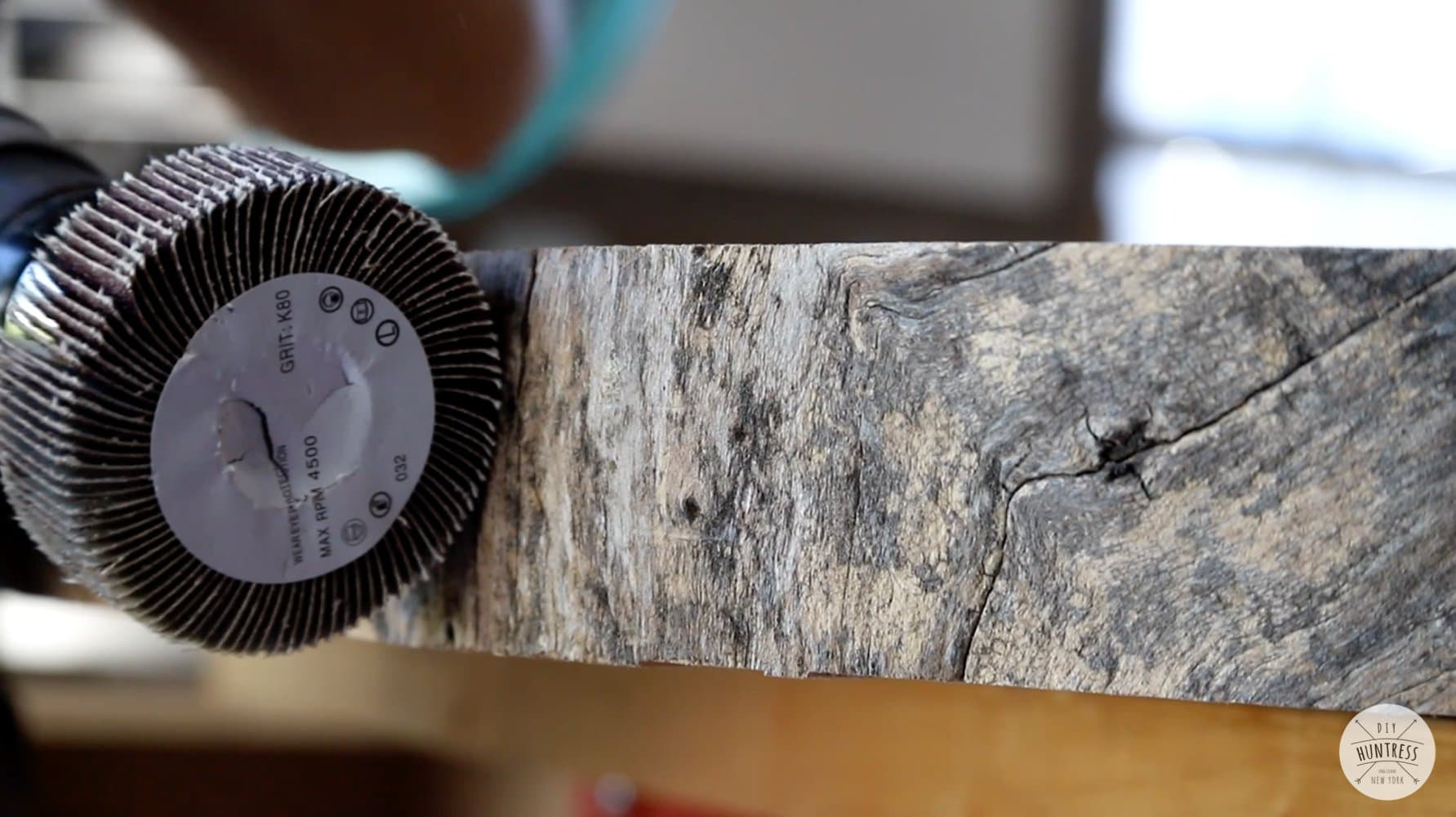 cleaning live edge wood