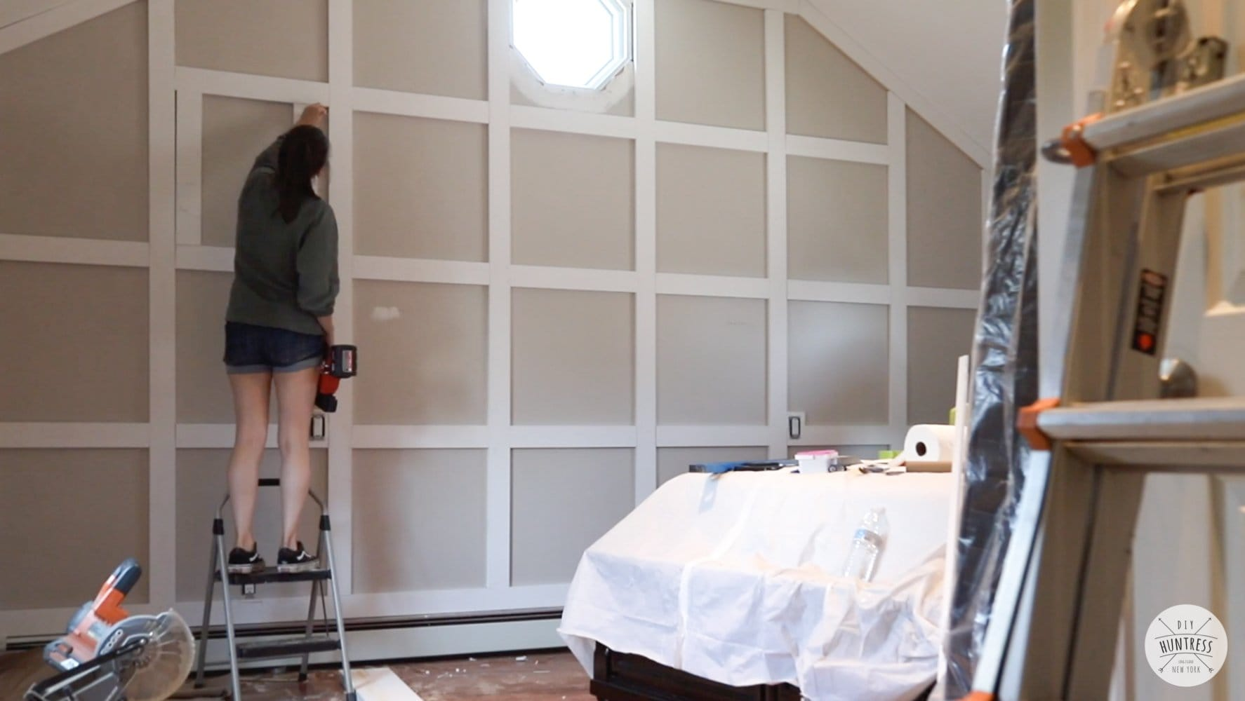 making a board and batten wall