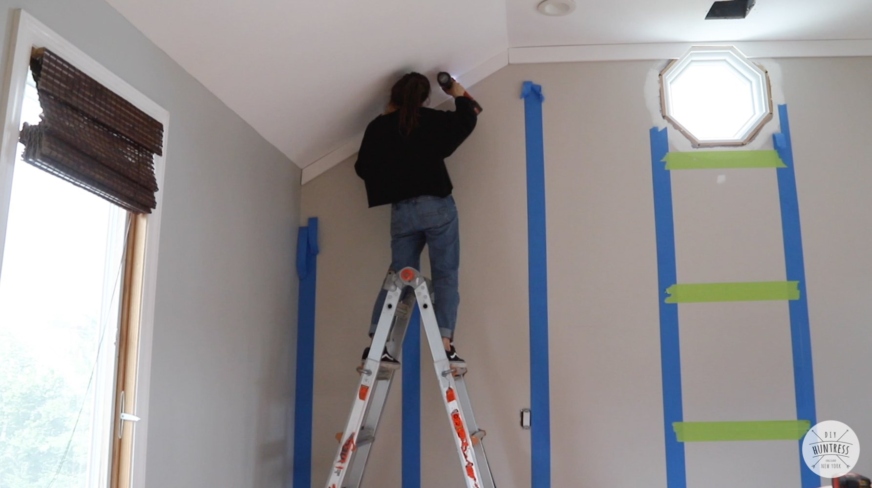 attaching boards to wall with nails