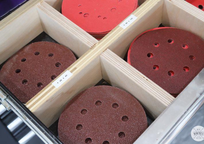 diy sandpaper storage