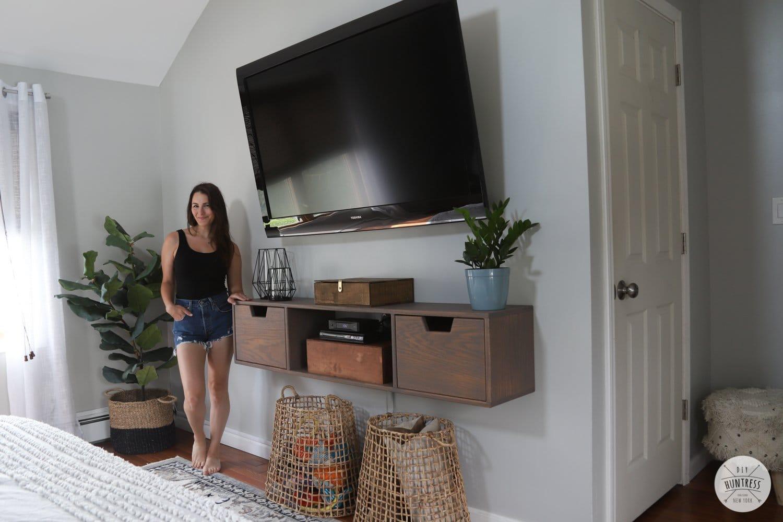DIY Floating TV Stand